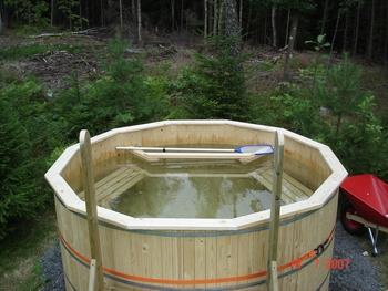 göra egen badtunna