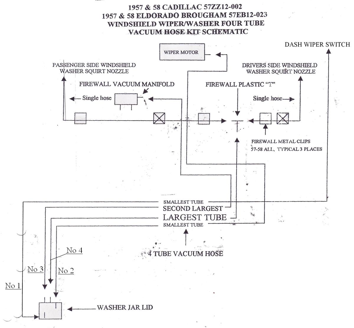Windshield Wiper Vacuum Diagram Wiring Data 1958 Corvette Hose Exchange Caddysurfers Web