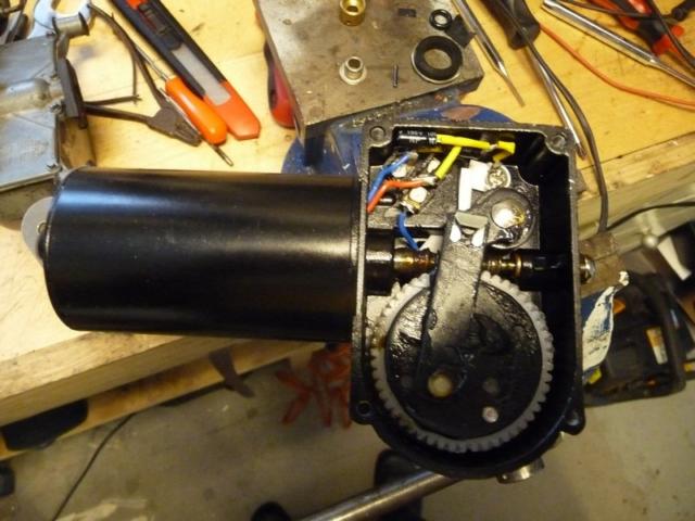 Inside of electric motor gear