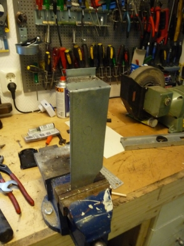 Fabricating the steel bracket in bench vice
