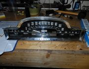 The instrument cluster on the bench